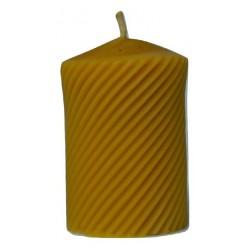 Świeca z naturalnego wosku pszczelego WALEC SPIRALNY